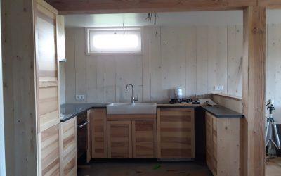 Keuken plaatsen in de Boshut